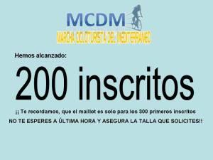200 INSCRITOS