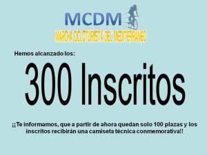300 INSCRITOS